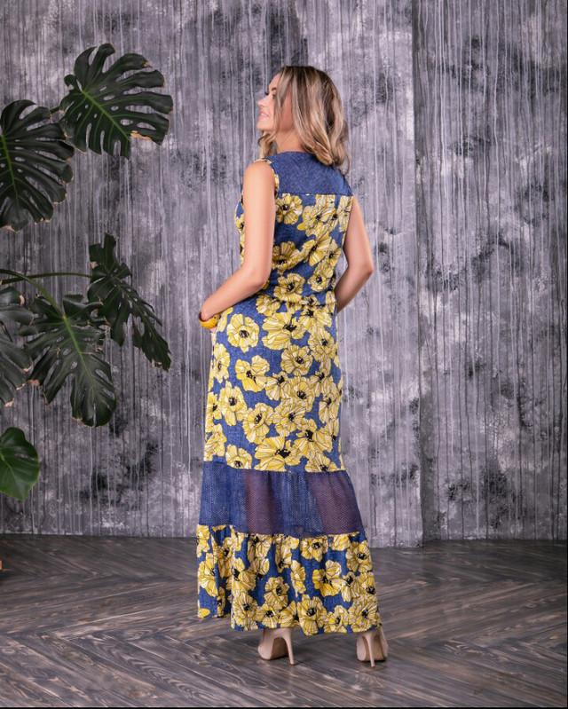 Фото-1 Батального красивого летнего платья Ромашка