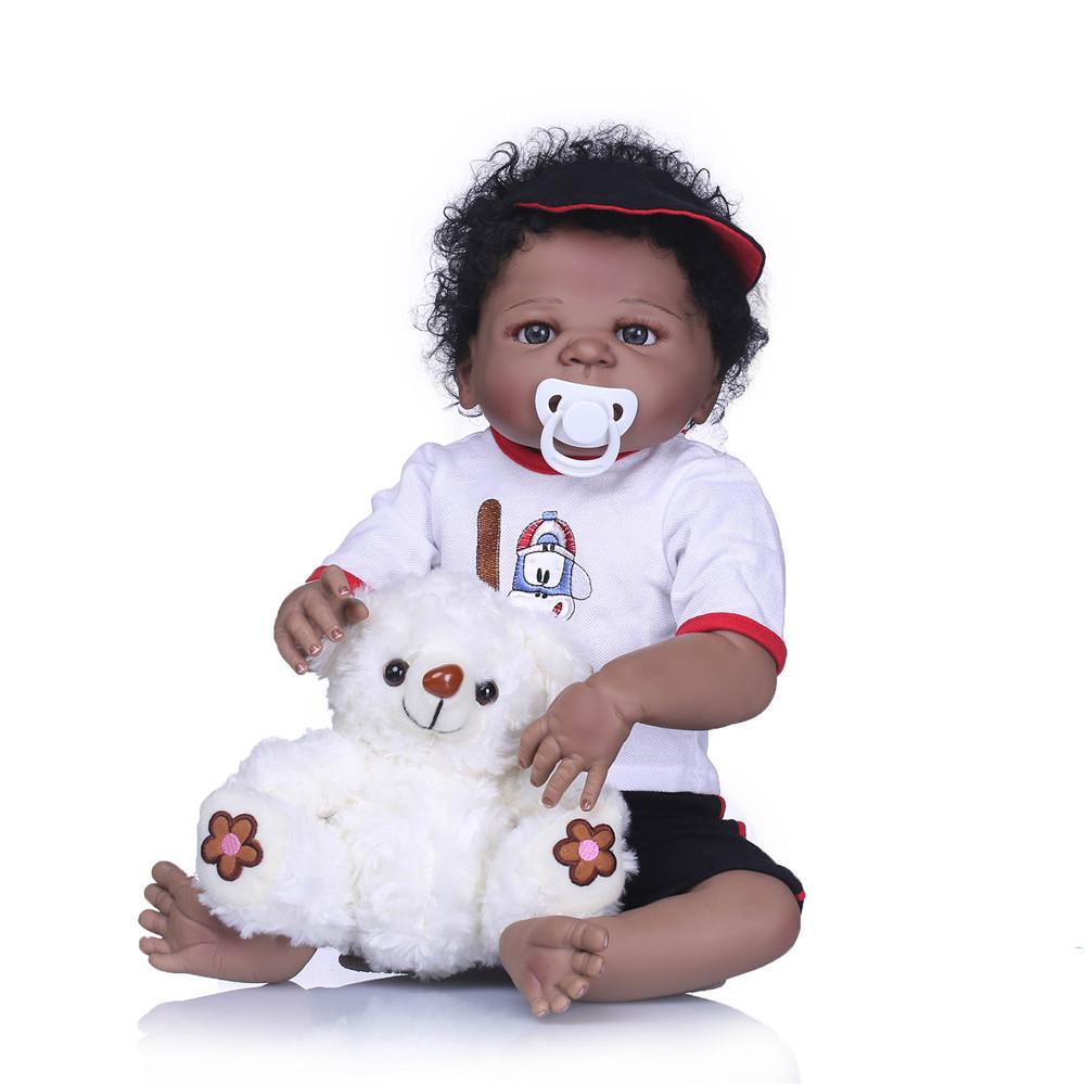 NPK 23 '' Полный винил Reborn Baby Кукла Lifelike Boy Красивый реалистичный Силиконовый Baby Кукла Toy - 1TopShop
