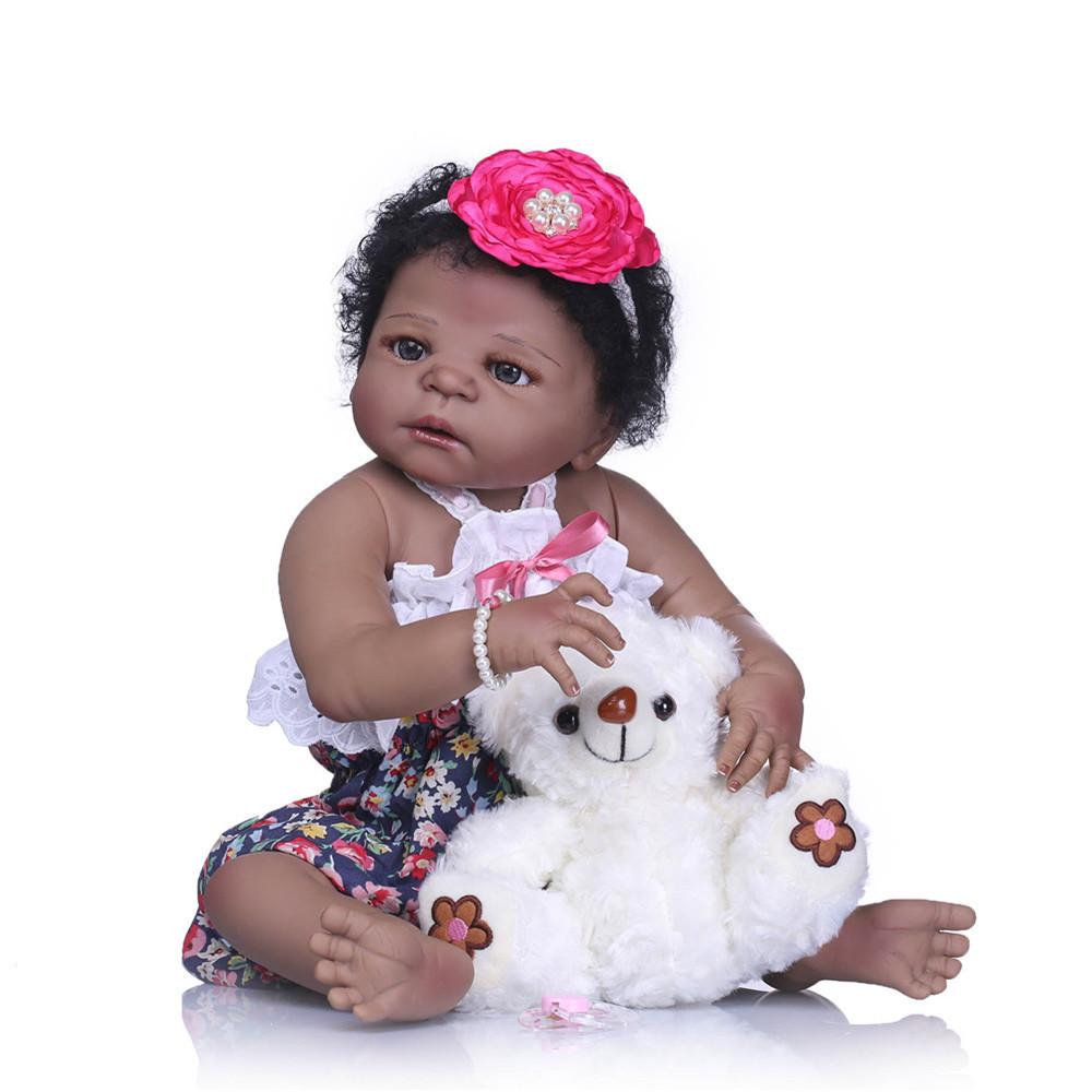 NPK 57CM 23inch NPK Кукла Bebe Reborn Кукла Подарки для девочек Lifelike Soft Винил Силиконовый Reborn Кукла -1TopShop