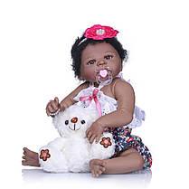 NPK 57CM 23inch NPK Кукла Bebe Reborn Кукла Подарки для девочек Lifelike Soft Винил Силиконовый Reborn Кукла -1TopShop, фото 2