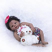 NPK 57CM 23inch NPK Кукла Bebe Reborn Кукла Подарки для девочек Lifelike Soft Винил Силиконовый Reborn Кукла -1TopShop, фото 3