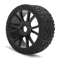 4ШТ 17мм Ободок колеса втулки и Шины HSP 1: 8 Внедорожник РУ-Автомобиль Багги Тир Черный-1TopShop, фото 3