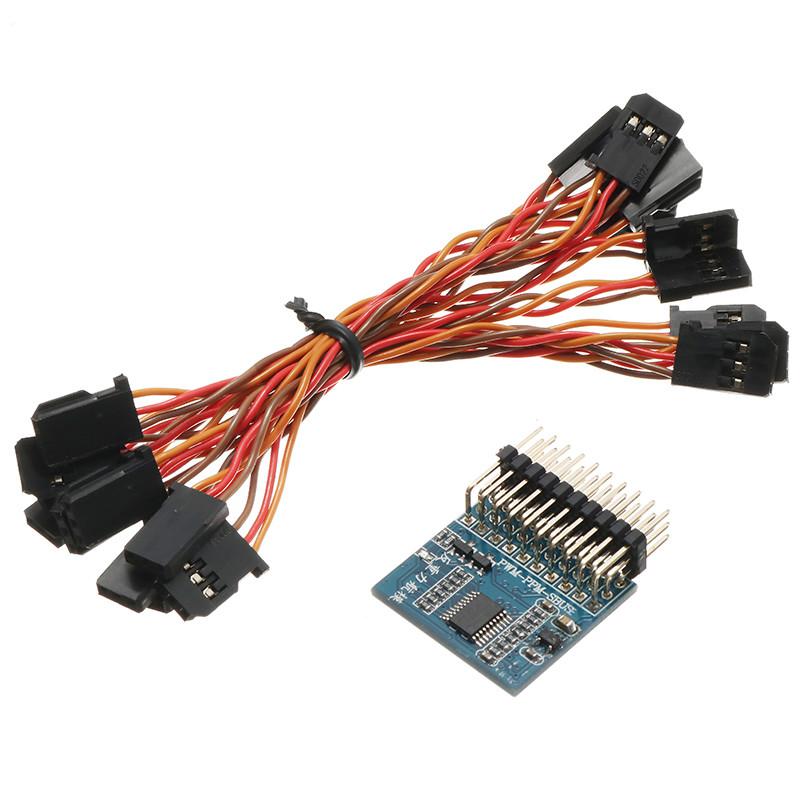 Tarot 8-канальный модуль преобразования сигналов PWM / PPM / SBUS / DBUS / S-BUS / D-BUS / Pixhawk для Multicopter Дрон-1TopShop