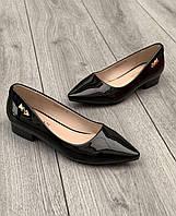 Туфли женские 8 пар в ящике черного цвета 35-40, фото 1