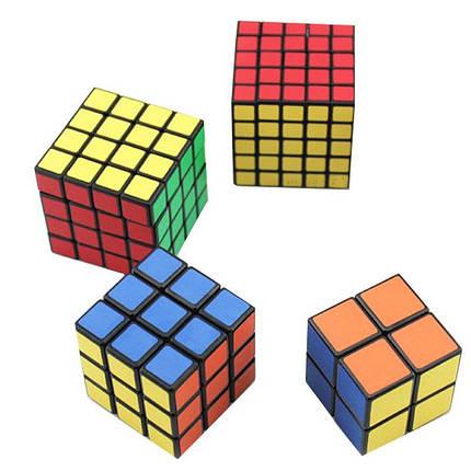 4PCS Classic Волшебный Cube Комплект для игрушек 2x2x2 и 3x3x3 4x4x4 и 5x5x5 ПВХ наклейки Головоломка Скорость Cube - 1TopShop, фото 2