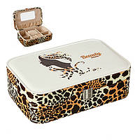 "Шкатулка для украшений ""Leopard"" (22.5*14.5*5 см) кожзам 303JH, фото 1"