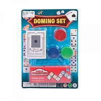 Домино 3896-30, карты, фишки(с номиналом), на листе, 18, 5-26-2см