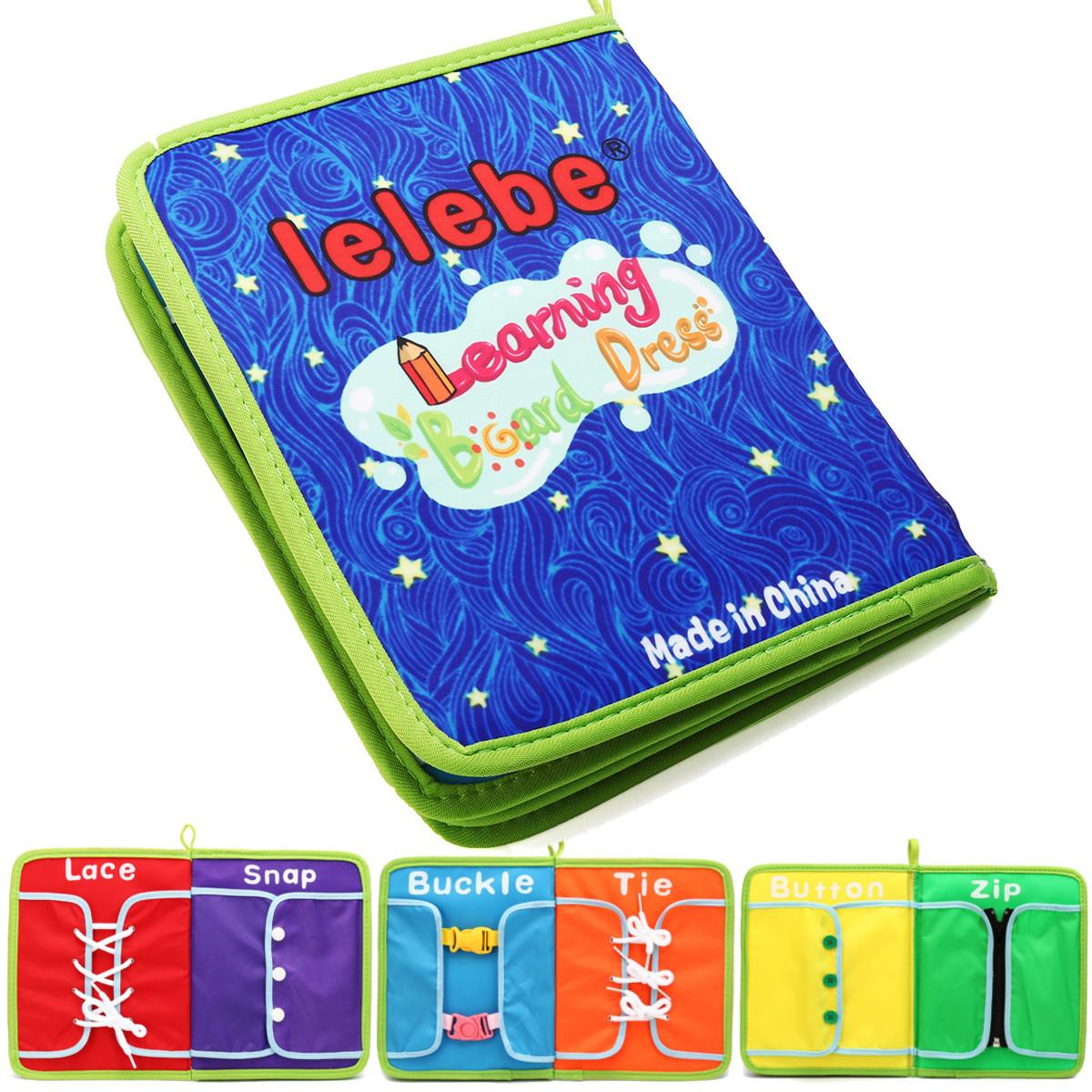 Montessori Learn Платье Доски Быстрая книга Раннее обучение Основные жизненные навыки Игрушки - 1TopShop