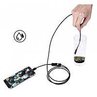 Камера эндоскоп с кабелем на 2 метра 7 мм USB/micro USB с подсветкой