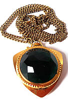 Годинник-кулон Зоря, смарагдові, позолочені, зроблені в СРСР, жіночі, фото 1