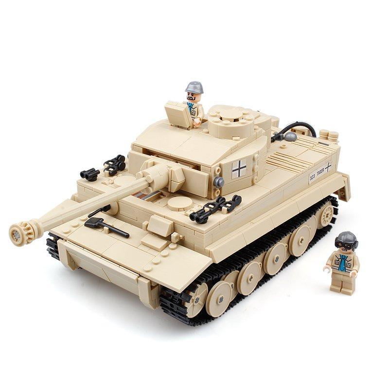 Kazi 995Pcs Немецкий тигр танк здания блоки игрушки образовательный подарок # 82011 Fidget Toys - 1TopShop