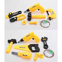Набор инструментов 239-2B-3B, дрель, ключ, молоток, 2вида, в кульке, 20-11-7см