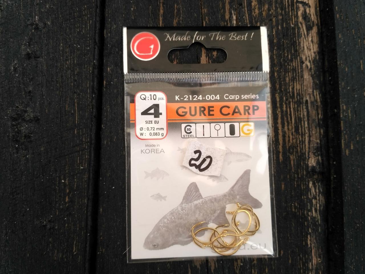 Гачки Gurza gure carp № 4 ( K-2124-004)