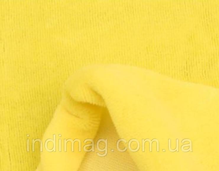 Велюр желтый хлопок ринг 5 метров