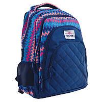 """Рюкзак школьный Smart SG28 """"Zig-zag"""" для девочек 31*43*12.5 см синий (557077)"""