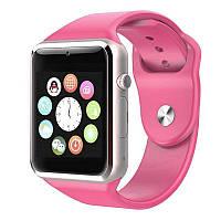 Смарт часы Smart Watch A1.Розовый. Pink