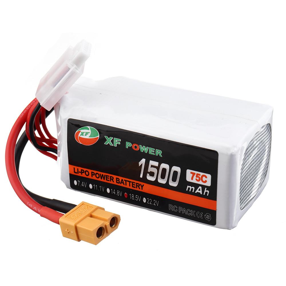 XF POWER 18.5 В 1500 мАч 75C 5S Lipo Батарея XT60 Разъем для FPV Racing Дрон - 1TopShop
