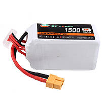 XF POWER 18.5 В 1500 мАч 75C 5S Lipo Батарея XT60 Разъем для FPV Racing Дрон - 1TopShop, фото 3