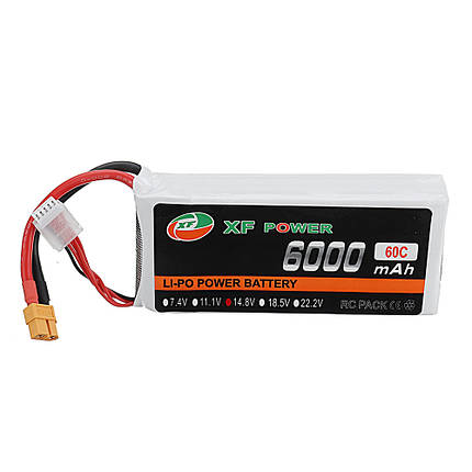 XF POWER 7.4V 550mAh 80C 2S Lipo Батарея XT30 Разъем для FPV Racing Дрон - 1TopShop, фото 2