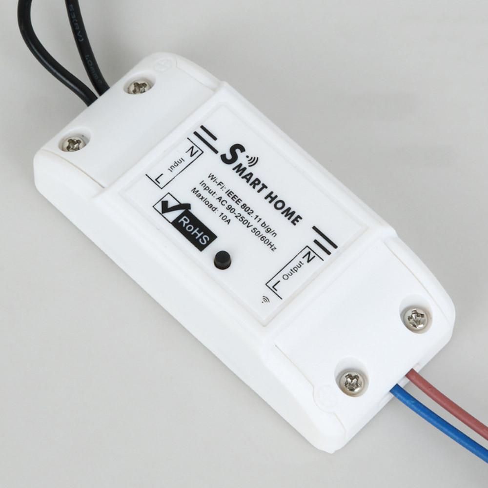 Bakeey 10A Базовый WiFi Smart Switch Беспроводной модуль домашней автоматизации Tuya APP Дистанционный Управление освещением Работа с Алексе -