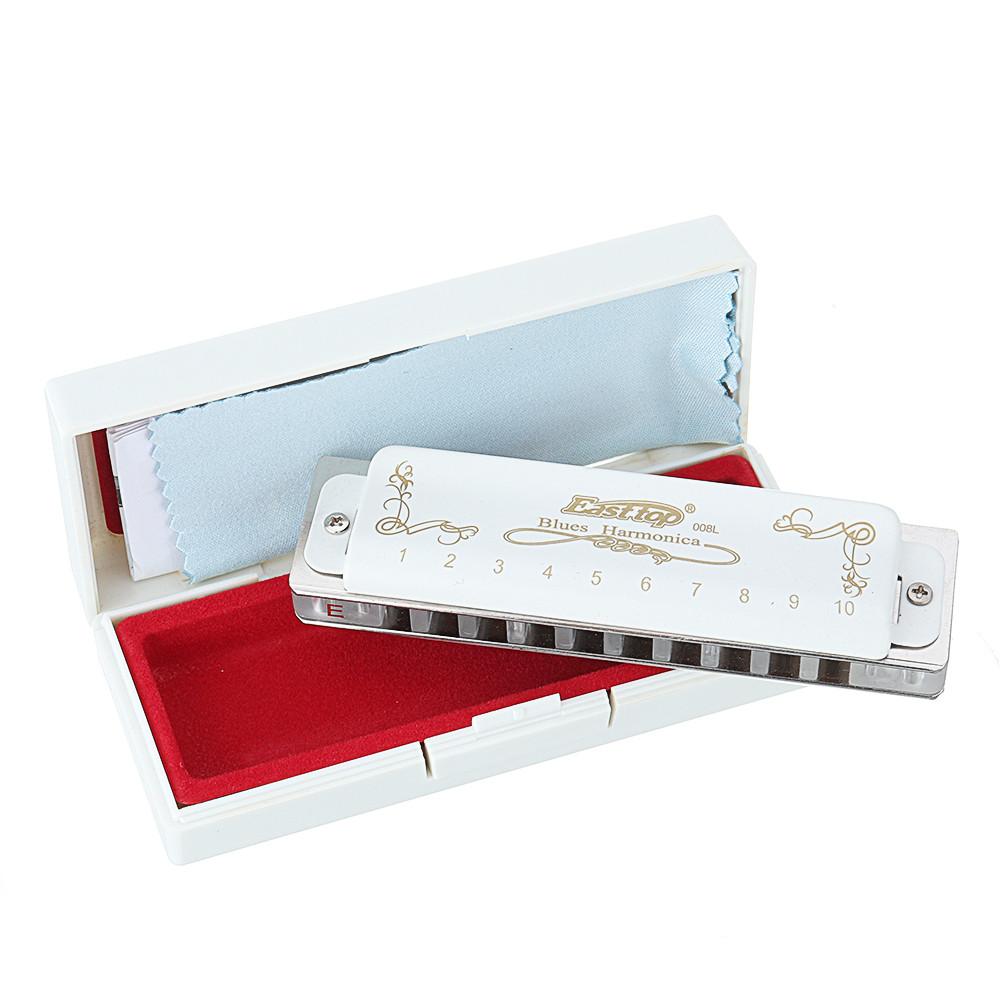 Easttop T008K Гармоника Брюса Блюза с 10 отверстиями ABCDEFG Ключ для начинающих - 1TopShop
