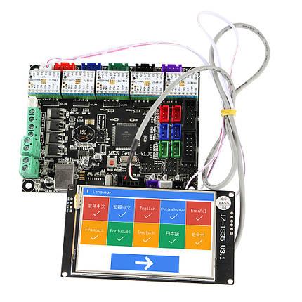 MKS GEN L Материнская плата + 3.5 дюймов LCD WIFI с сенсорным экраном + 5x TMC2209 V2.0 Super Бесшумный Stepper Мотор Драйвер Набор для 3D-принтера -, фото 2