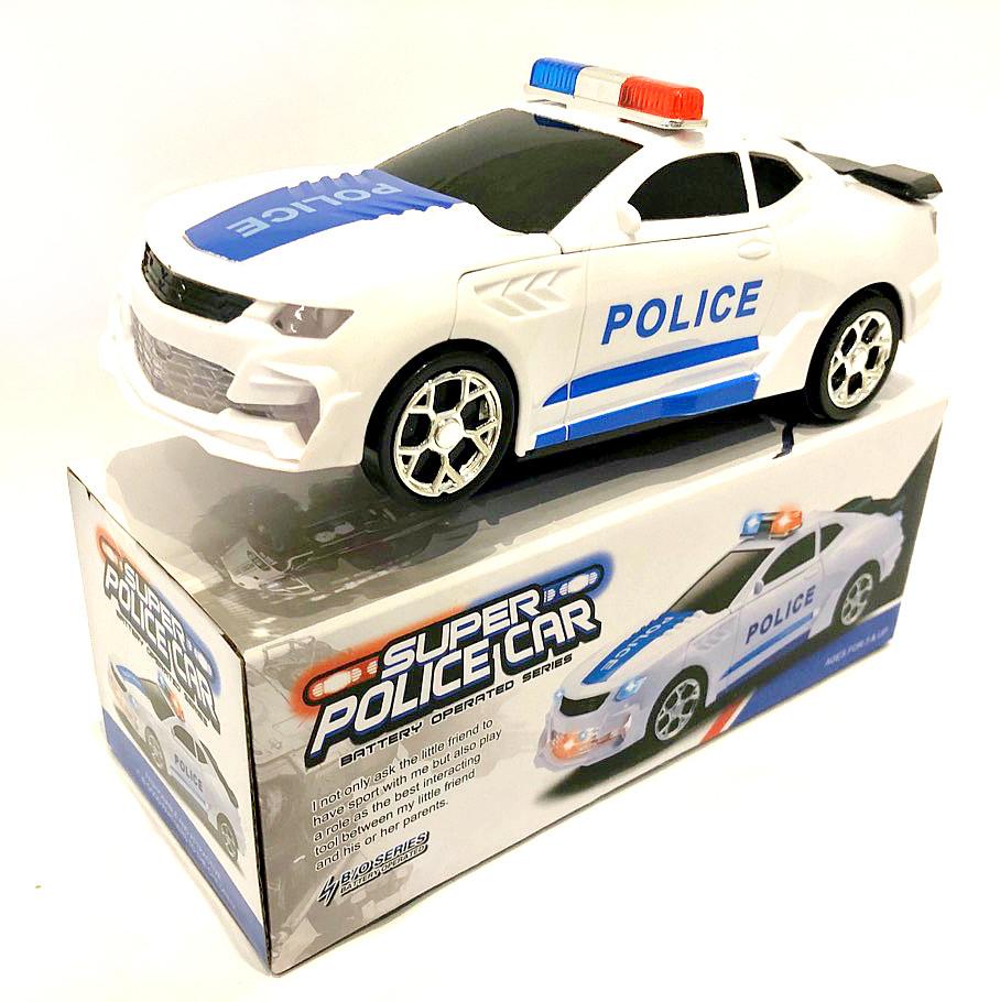 Полицейская машина - трансформер / музыка/ свет