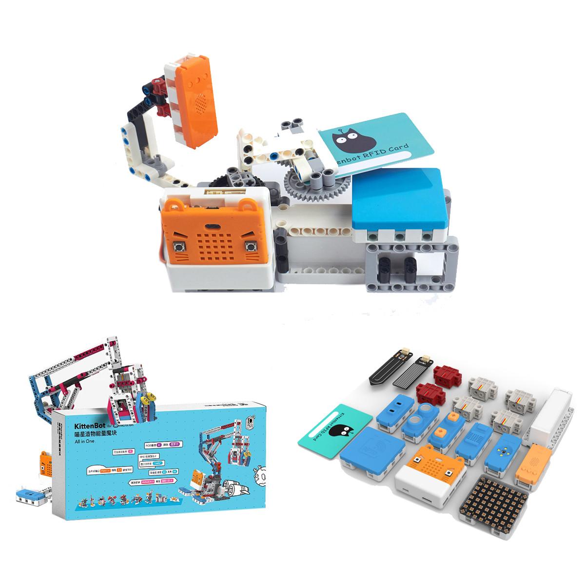 НаборробототехникиKittenBot®PowerBrick10-в-1для детей и начинающих на основе Scratch 3.0 Micro: bit Robot - 1TopShop