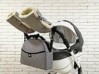 Комплект сумка и рукавички на коляску универсальный (Z&D New Серый), фото 1