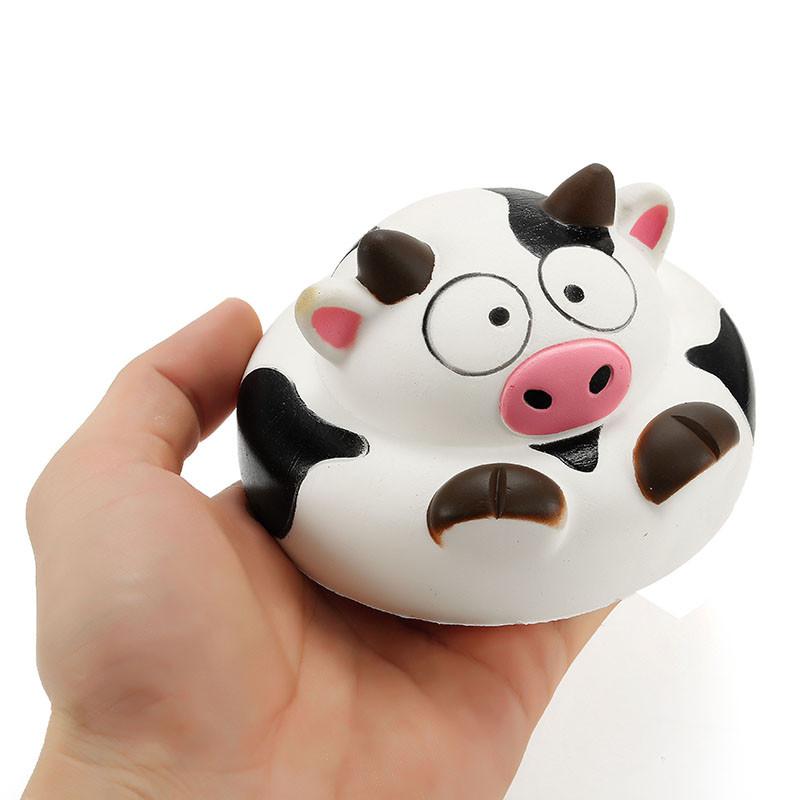 Squishy Cow 10 см Медленный рост коллекции животных Подарочный декор Мягкая игрушка - 1TopShop