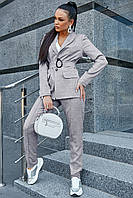 Стильный льняной брючный костюм на подкладе 1188 (44–50р) в расцветках, фото 5