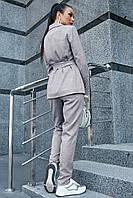 Стильный льняной брючный костюм на подкладе 1188 (44–50р) в расцветках, фото 7