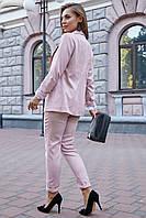 Стильный льняной брючный костюм на подкладе 1188 (44–50р) в расцветках, фото 4