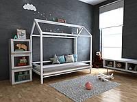 Детская Деревянная кровать домик Китти 70х140 см ТМ MegaOpt