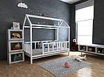 Дитяче Дерев'яне ліжко будиночок Тедді 70х140 см ТМ MegaOpt, фото 2