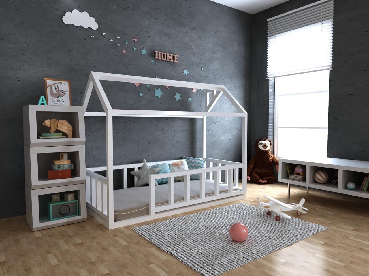 Дитяче Дерев'яне ліжко будиночок Тедді плюс 70х140 см ТМ MegaOpt