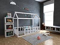 Детская Деревянная кровать домик Тедди плюс 70х140 см ТМ MegaOpt