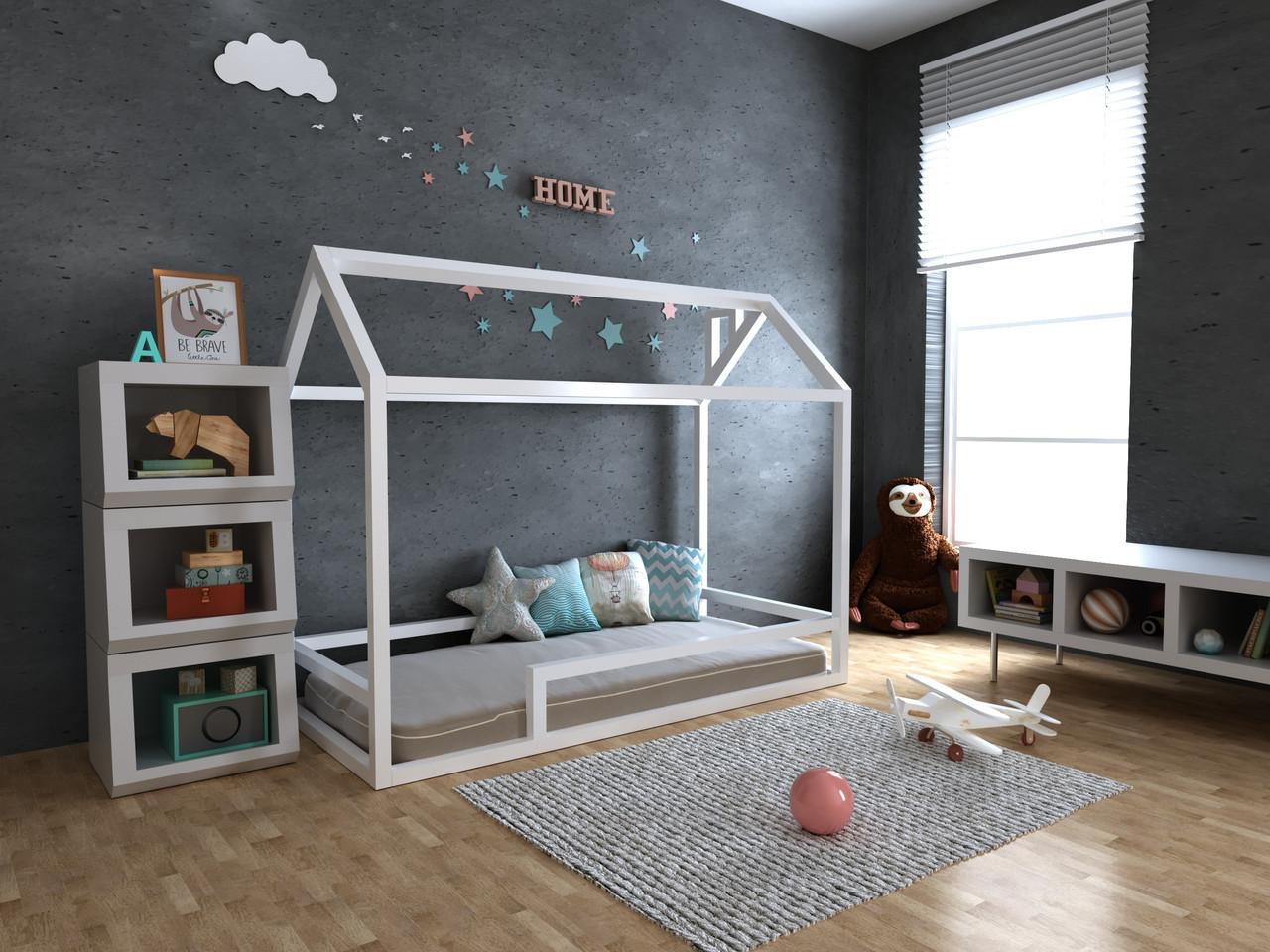 Детская Деревянная кровать домик Анетти плюс 70х140 см ТМ MegaOpt