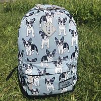 Школьный рюкзак городской Favor (Французский бульдог), фото 1