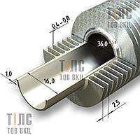 Труба оребренная стальная 16х1х36