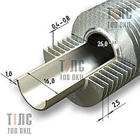 Труба оребренная стальная 16х1х26