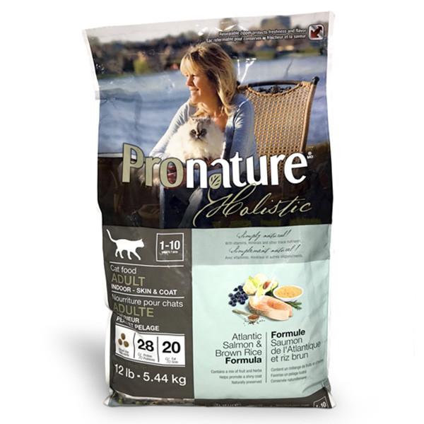 Корм Pronature Holistic Atlantic Salmon & Brown Rice Пронатюр Холістік з лососем і рисом 5,44 кг