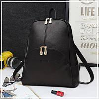 Рюкзак женский городской Nevenka с карманом (черный), фото 1