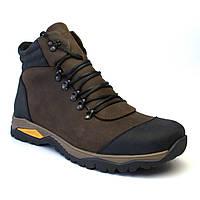 Зимние коричневые кожаные ботинки на овчине мужская обувь больших размеров Rosso Avangard Lomer Crazy Brown BS