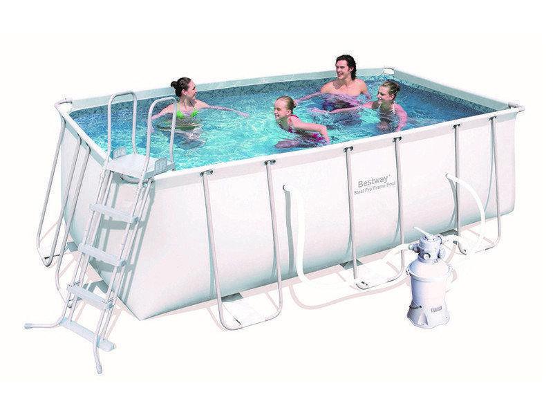 Bestway 56457, каркасный бассейн с песочным фильтр-насосом (412х201х122 см)