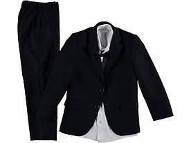 Детский школьный брючный костюм-тройка для мальчика 8-12 лет