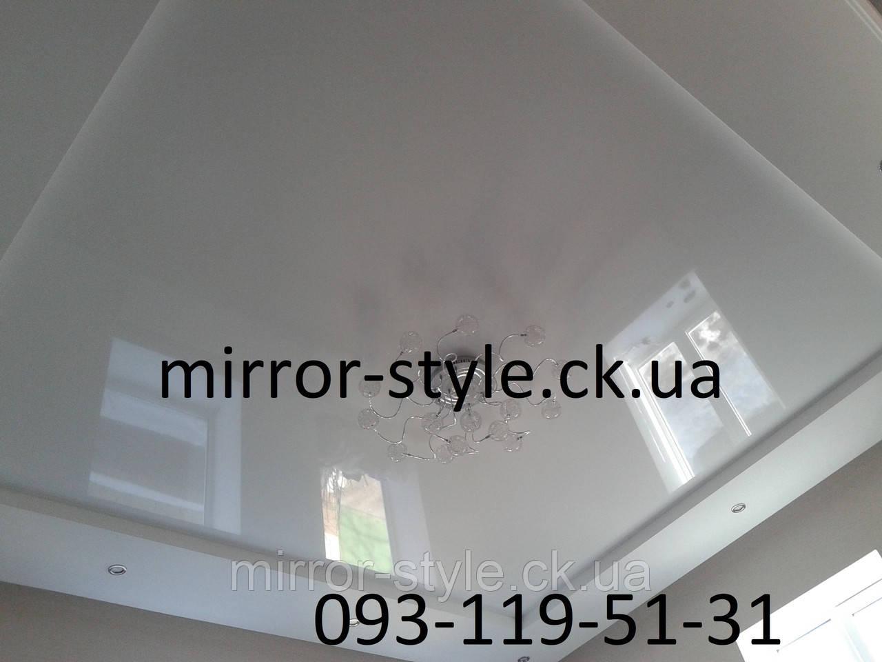 Белый глянцевый натяжной потолок в Черкассах по улице Седова.