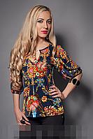 Блуза женская модель 225-1 , размеры 46,48,50 черная