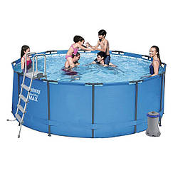 Bestway 15427, каркасный бассейн с картриджным фильтр-насосом (366х133 см)