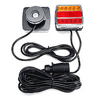 2шт магнитный трейлер задние фонари стоп индикатор лицензии Пластина Лампа Водонепроницаемы 12 В 16LED - 1TopShop